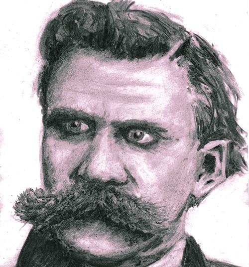Portrait of Nietzsche © Athamos Stradis 2012