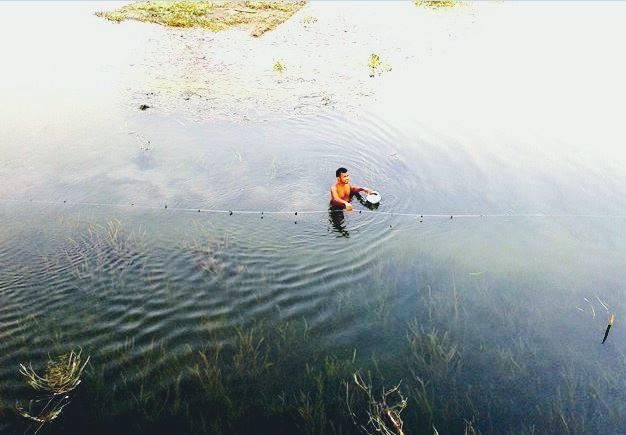 কুমার নদীতে মাছ ধরা লোকটা কোন জেলায়— কুষ্টিয়া না ঝিনাইদহে?